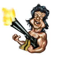 Rambo Caricature by jonesmac2006