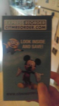 Mickey mouse and a minion on the same card by pookiesaurus4