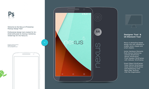 Google Nexus 6 Mock-up and Concept Tool by synergeticink