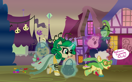 Foalsitting on Nightmare Night by rem-ains
