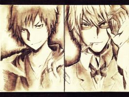 Izaya and Shizuo From Durarara! by MaryM8D
