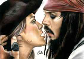 Johnny Depp and Keira Knightley by aimee1998
