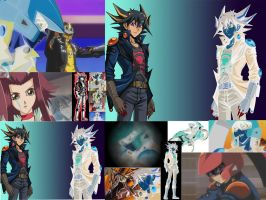 Yusei and his evil clone Project X by tikisix