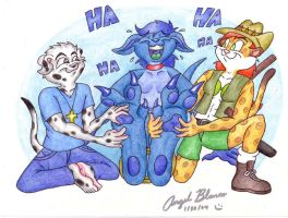 Blue Roo Tickled by SketchDalmatian