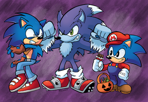 Spoopy Sonic by SonicKnight007