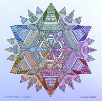 handcoloured Jim's traditional mandala 51 (2) by Lou-in-Canada
