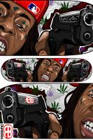 Weezy F. Baby - Skateboard by dunkees