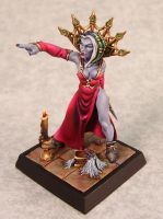 Vampiress painted by Jessica Rich by newboldworld