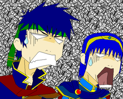 Marth n' Ike's yaoi reaction by 2ndCityCrusader