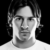 Messi - Digital Art by INTIXO