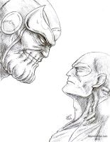 Thanos vs. Drax by Asintado24