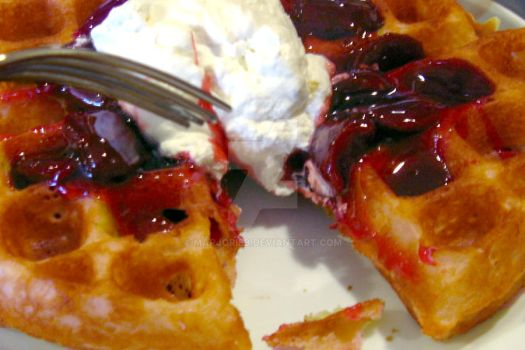 Belgian Waffles at Ruby's by MarjorieB