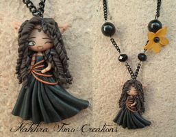 Arhikan Priestess of the Moon polymer clay by Nakihra