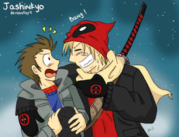 spideypool : Bang by Jashinnkyo