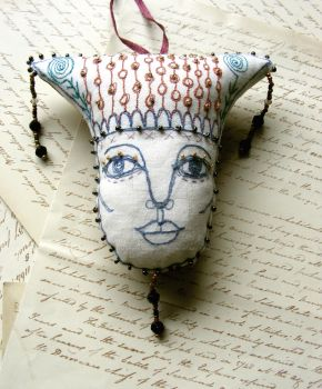 Door Guardian - Textile Art by theseventhmagpie