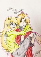 Edward+Winry by sickpinkbubblegum123