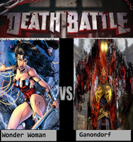What if Battle Wonder Woman Fight Ganondorf by newsuperdannyzx
