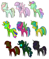 Free Pony Adoptables CLOSED by Ety-Adopts