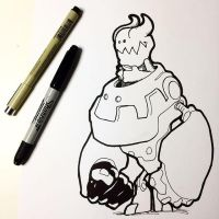 Inktober Devil Mecha by NoriToy