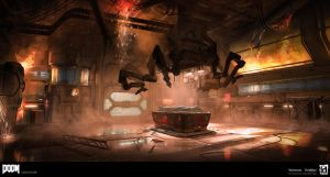 DOOM - Starting Room Chaos by MeckanicalMind