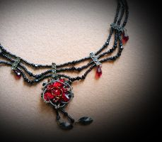 Gothic Flower Choker by lostspirit46