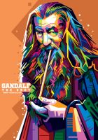 Gandalf in WPAP by aryakuza