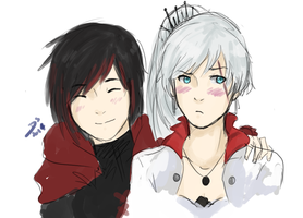 white rose doodle by Cadetheespeon