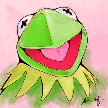 Kermit the Frog by Laroxes