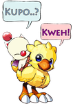 Chocobo and Moogle by Judeydey