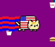America Nyan Cat by DiscoDemolition