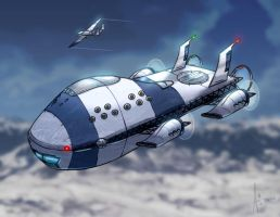 Space Trouble Airship by incomitatum
