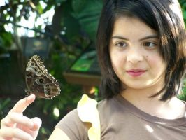 Butterfly and Girl by AkaneCeles