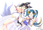 commission - Ahri x Sona by Red-Romanov
