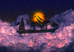 Ship on Clouds by Akhdanhyder