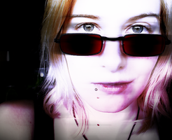 dark glasses by Lucy-Redgrave