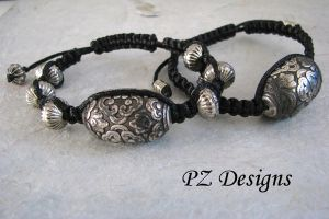 Knotted Bracelets with Tibetan Influence by PurlyZig