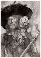 Captain Barbossa by katea