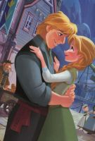 Frozen Kristoff and Anna wallpaper by LiviuSquinky