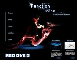 Red Dye 5 Home Page Concept by pixelworlds