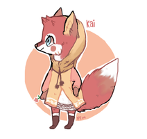 Little Fox Girl by foxtribe