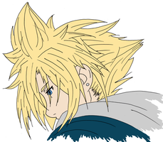 Cloud Strife: Digital/WIP by AthenrilTheThief