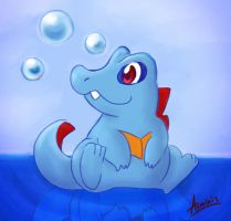 Totodile by arminis