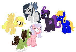 Pony Group Pointables :GONE: by PikPik-Adoption
