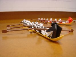 Origami Rowers by 5-design