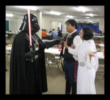 vader vs solo and leia by Darkside0326