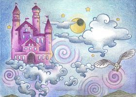 Castle in the Sky by Spiralpathdesigns