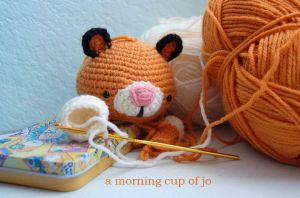 Crocheted Tiger WIP by amorningcupofjo