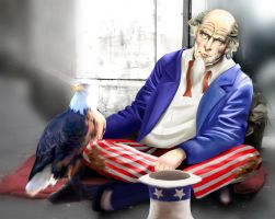 Homeless Uncle Sam by nrxia