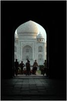 First Glance at the Taj by Cleonor