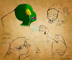 sketch dump/adult irken practice 12/1/12 by Darkwolfhellhound